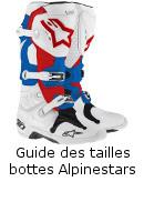 Guide des tailles bottes Alpinestars
