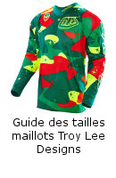 Guide des tailles maillots Troy Lee Designs