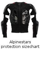 Alpinestars Protections Sizechart