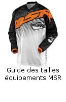Guide des tailles équipement MSR
