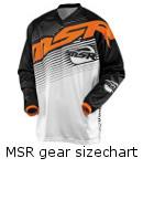 MSR Gear Sizechart