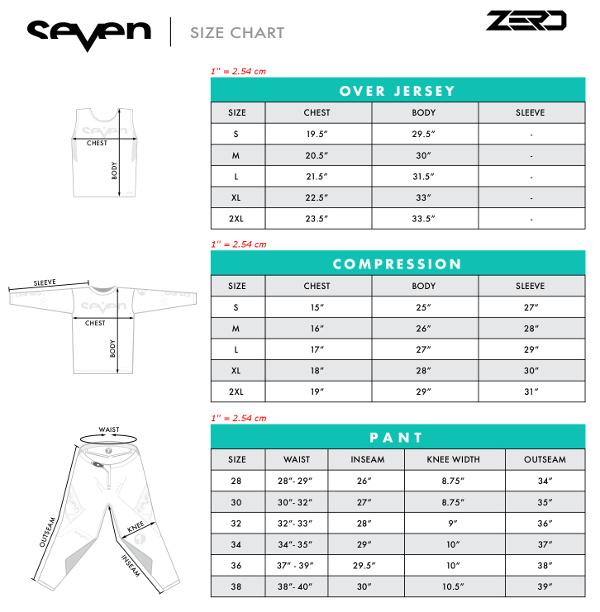 Guide des tailles Seven MX Zero