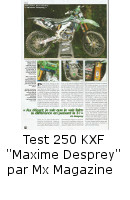 "Test 250 KXF ""Maxime Desprey"" Mx Magazine"